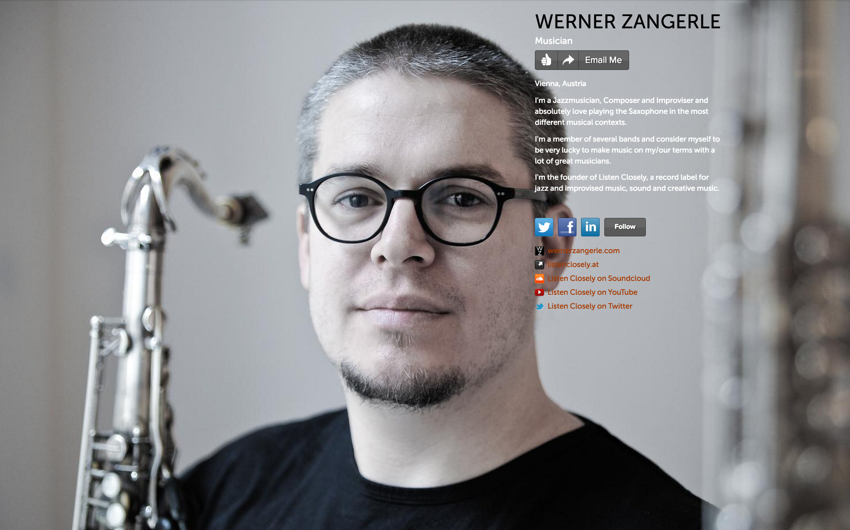 Werner Zangerle on about.me